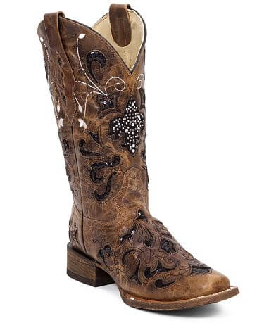 Corral Sequin Leather Western Boot