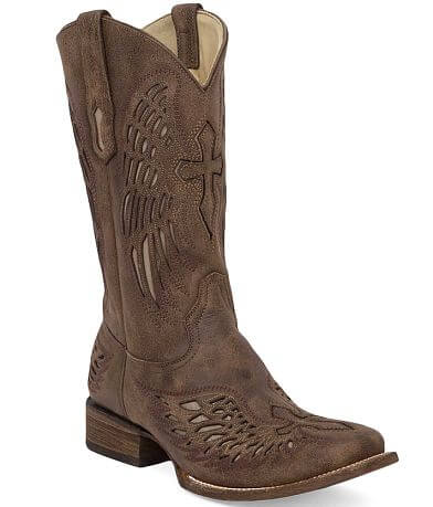 Corral Bone Wing Leather Cowboy Boot