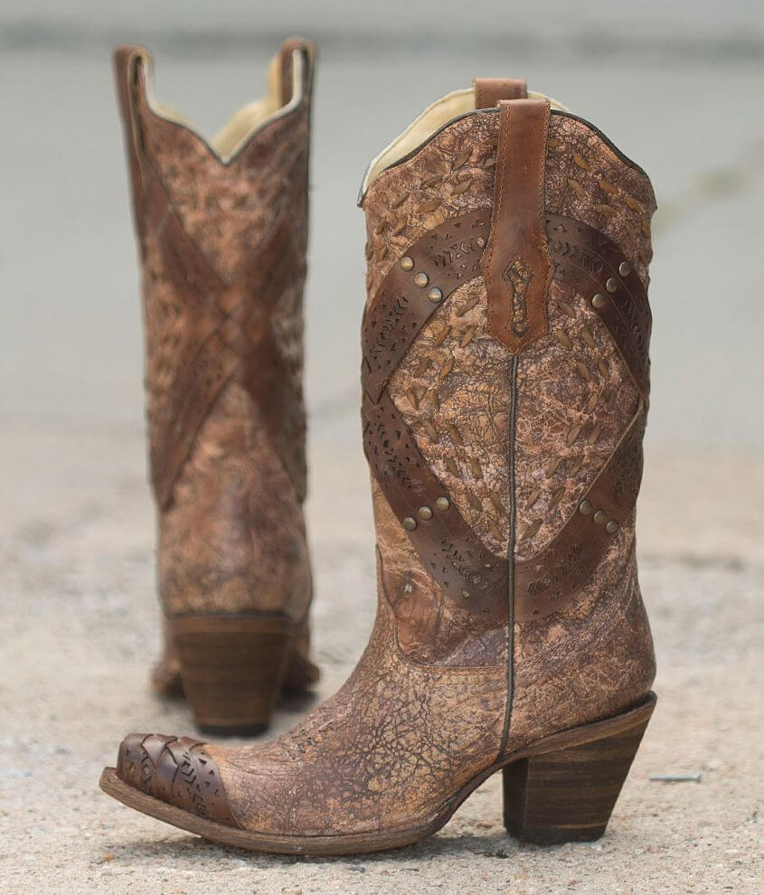 Corral Studded Cowboy Boot front view