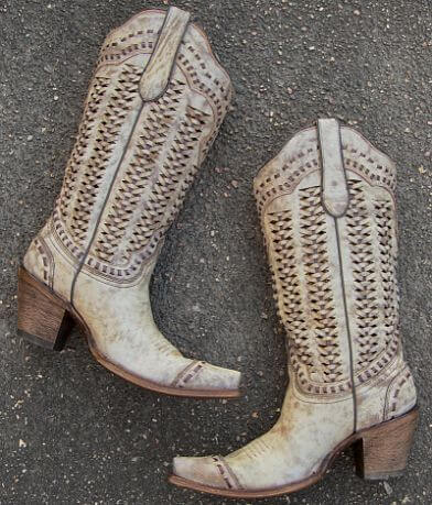 Corral Braided Leather Western Boot