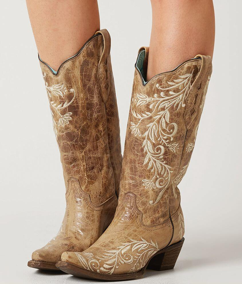 93084771387c Corral Embroidered Leather Western Boot - Women's Shoes in LD ...