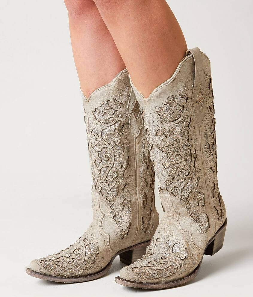 3fc91cf1cf0 Corral Laser Cut Leather Western Boot - Women's Shoes in LD White ...
