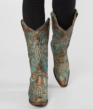Corral Cross Metallic Leather Western Boot