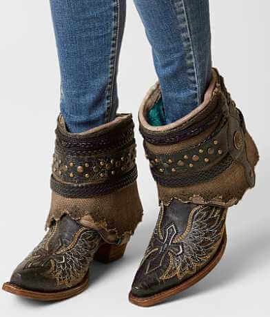 Corral Bone Flipped Ankle Cowboy Boot