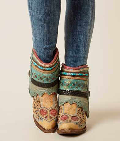 Corral Sand Flipped Ankle Cowboy Boot