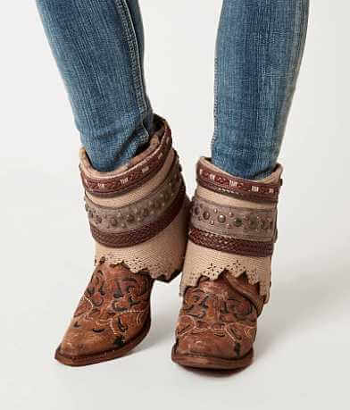Corral Cognac Flipped Ankle Cowboy Boot