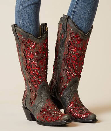 Corral Rhinestone Leather Western Boot