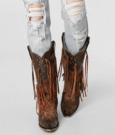 Corral Honey Goat Leather Western Boot