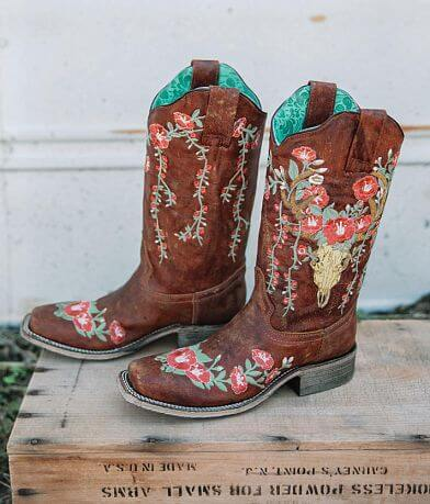 Corral Embroidered Floral Leather Western Boot