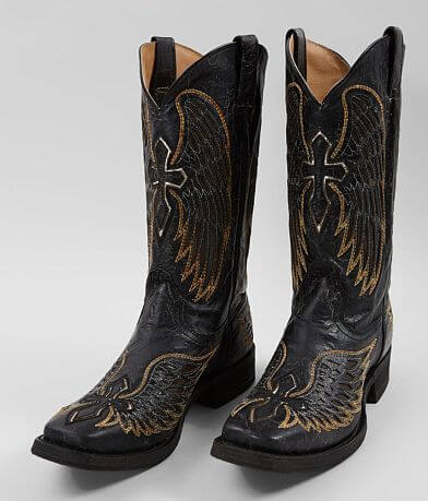 Corral Wings & Cross Leather Cowboy Boot