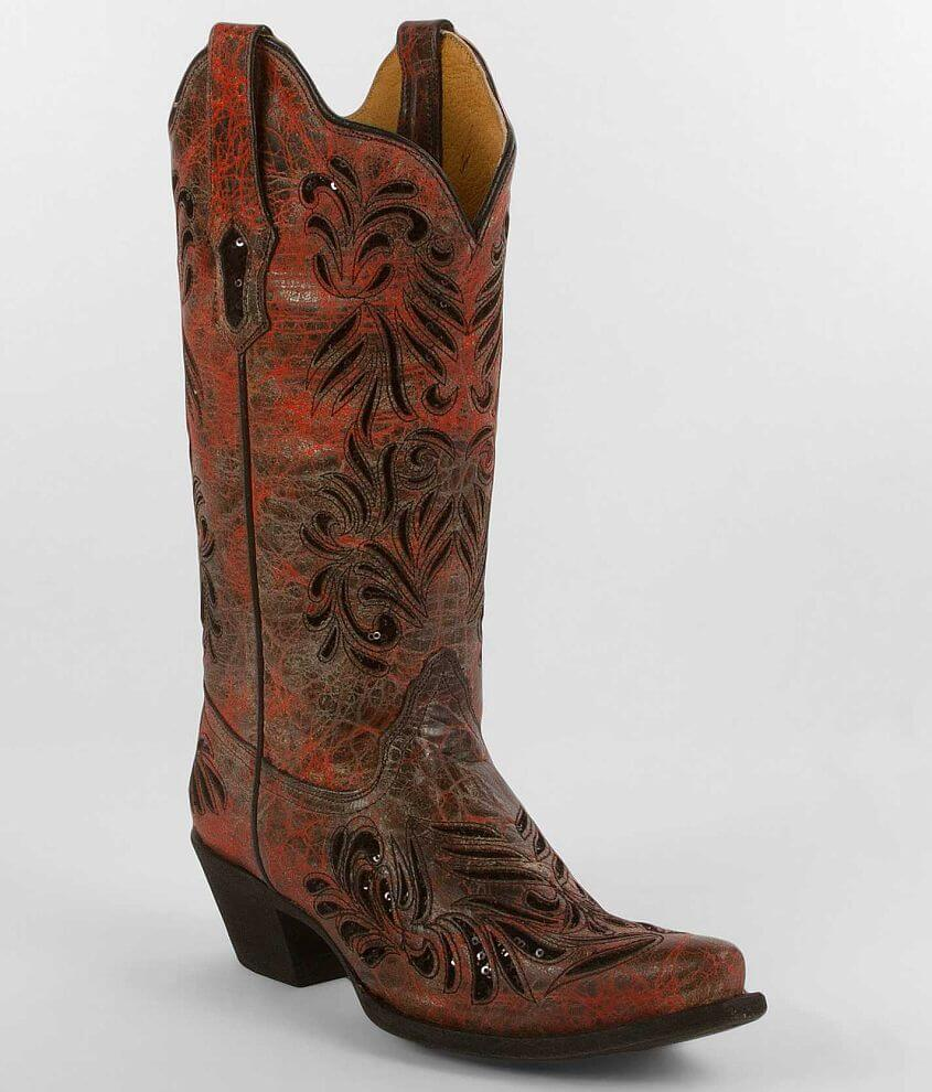 Corral Sequin Cowboy Boot front view
