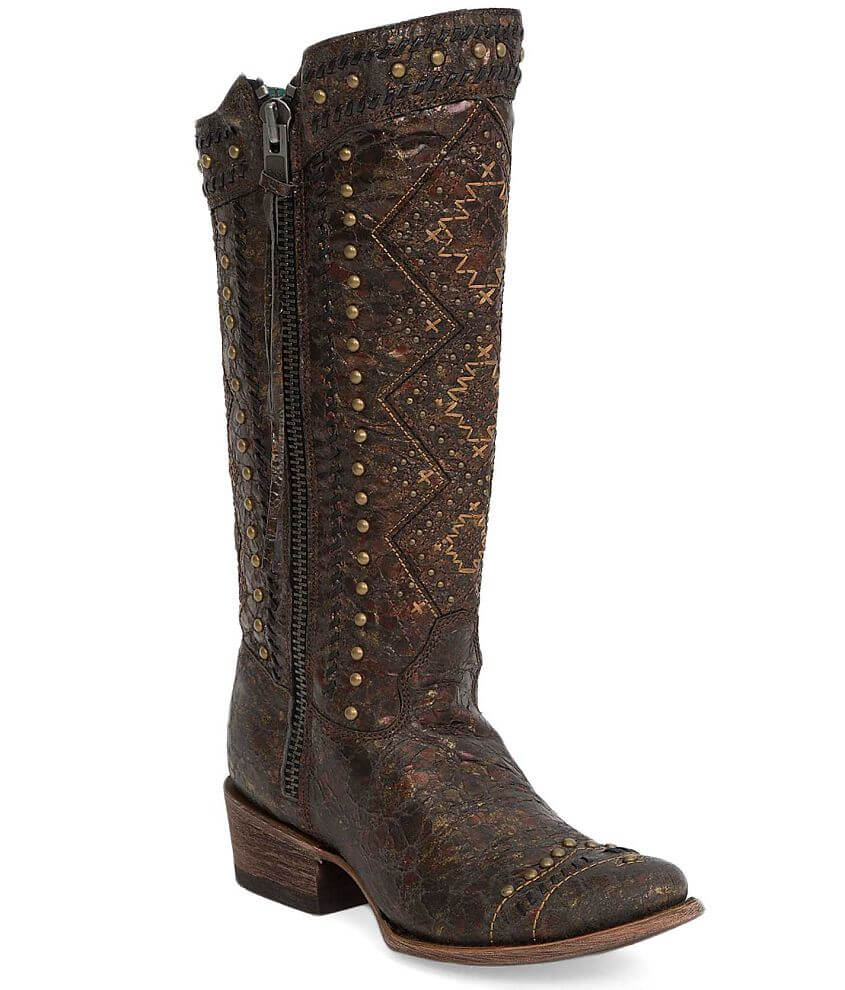 Corral Studded Riding Boot front view