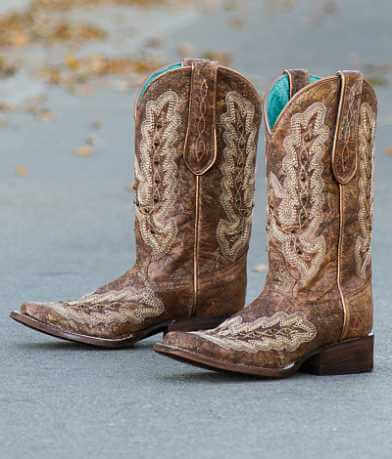 Corral Rhinestone Square Toe Cowboy Boot