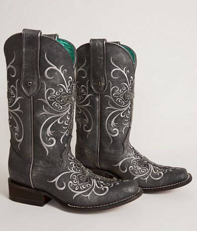 Corral Beaded Square Toe Cowboy Boot