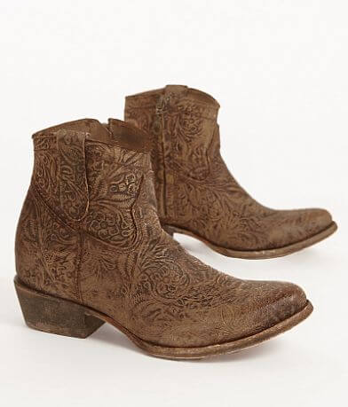 Corral Embossed Leather Ankle Boot