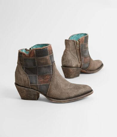 Corral Patchwork Leather Ankle Boot