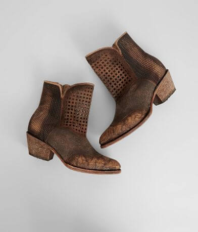 Corral Laser Cut Leather Ankle Boot