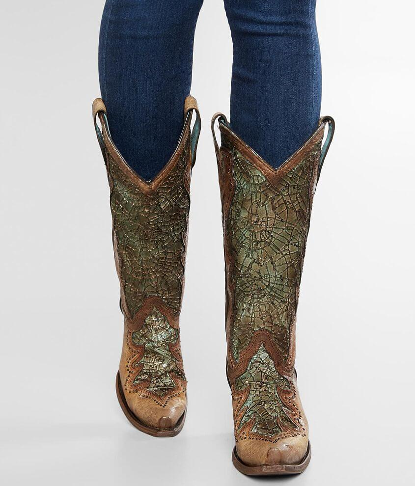 b468f044ba6 Corral Distressed Leather Western Boot - Women's Shoes in LD Sky ...