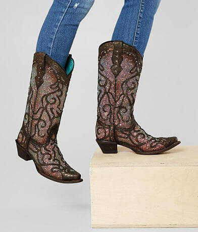 Corral Glitter Leather Western Boot