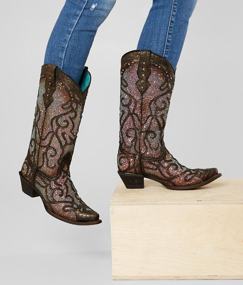 eabe7754c340 Corral Glitter Leather Western Boot - Women's Shoes in LD Copper ...