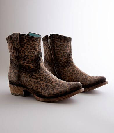 Corral Leopard Print Leather Ankle Boot