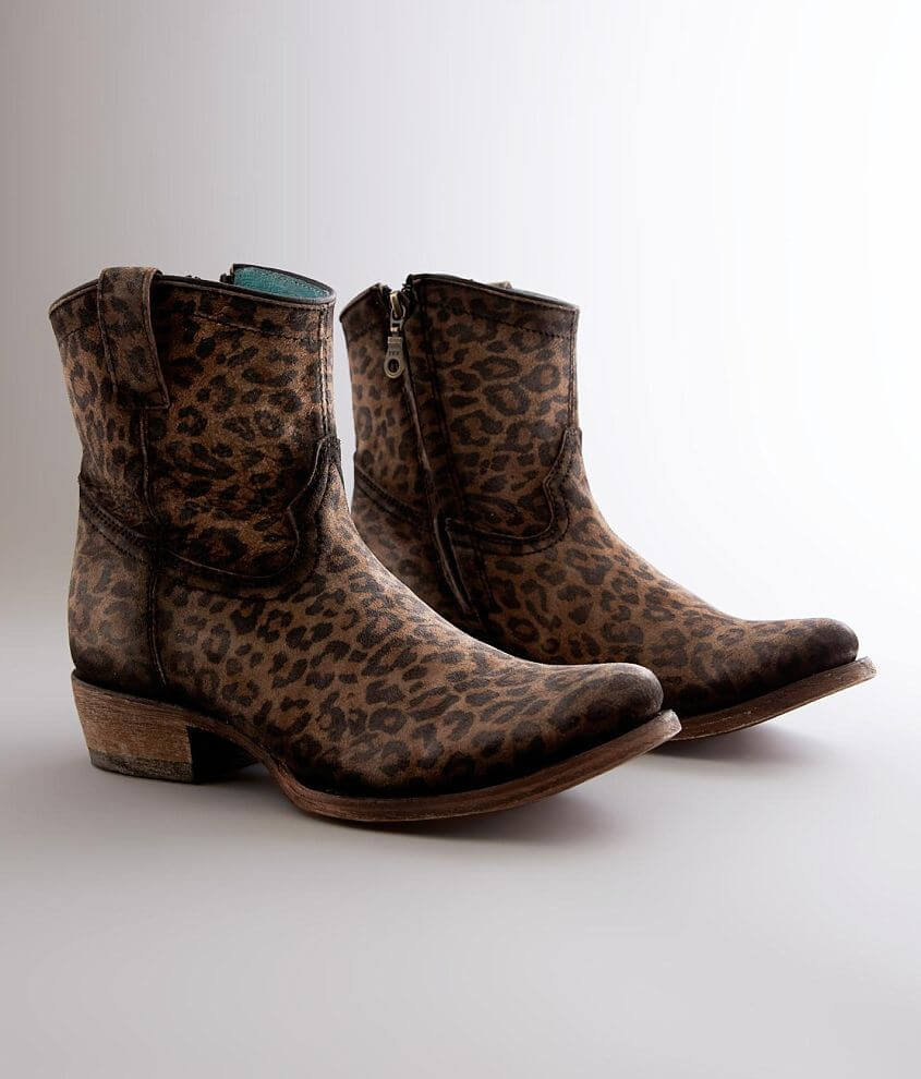 Corral Leopard Print Leather Ankle Boot front view