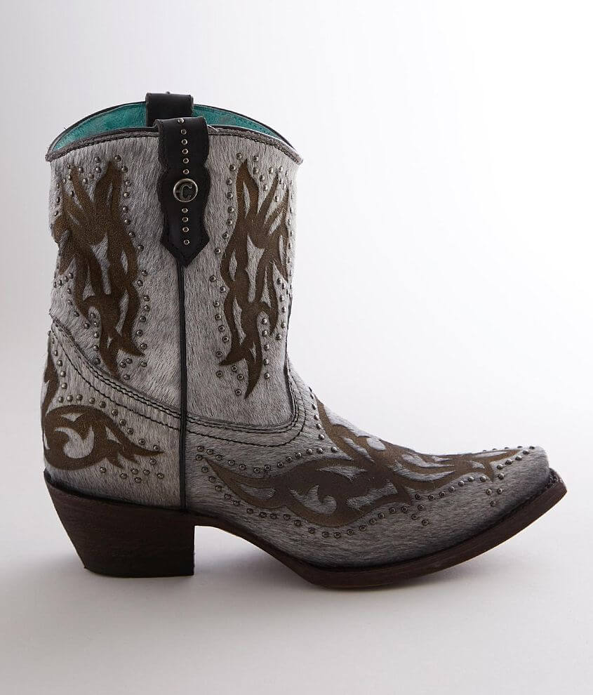 Corral Studded Short Leather Western Boot front view