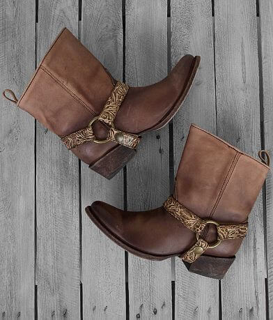 Corral Fango Honey Leather Ankle Boot