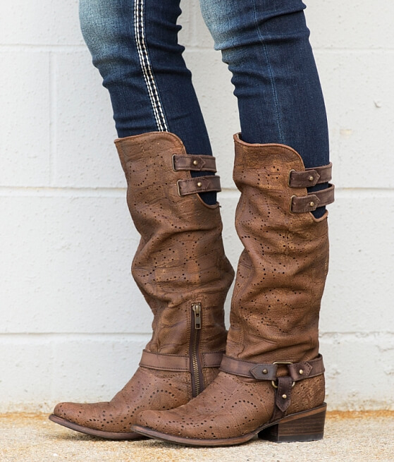 Corral Deer Riding Boot - Women's Shoes in LD Cognac | Buckle