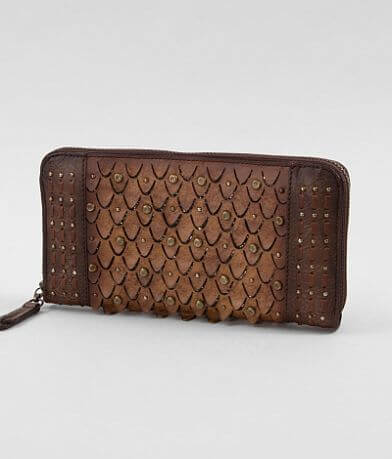 Corral Studded Leather Wallet