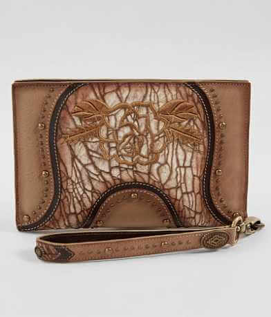Corral Leather Wristlet