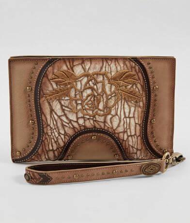 Corral Leather Wristlet