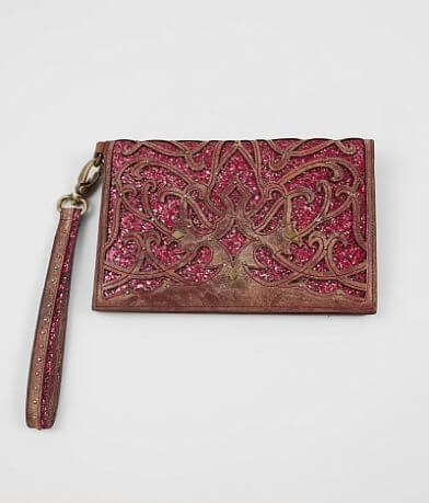 Corral Glitter Leather Clutch Wallet