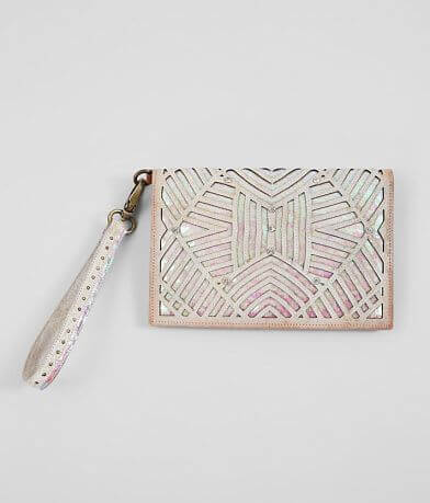 Corral Sequin Leather Clutch Wallet