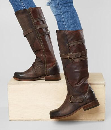 Corral Contrast Leather Riding Boot