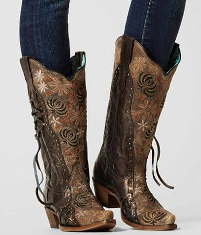 Corral Metallic Leather Western Boot