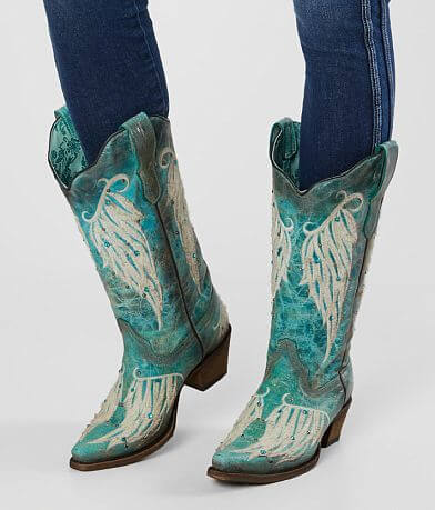 Corral Turquoise Embroidered Leather Western Boot