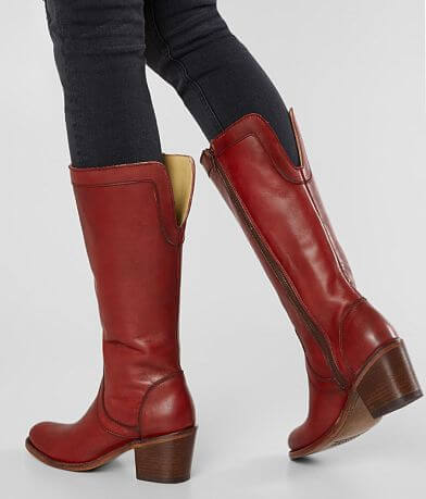 Corral Overlay Leather Riding Boot