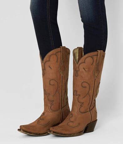 Corral Perforated Leather Western Boot