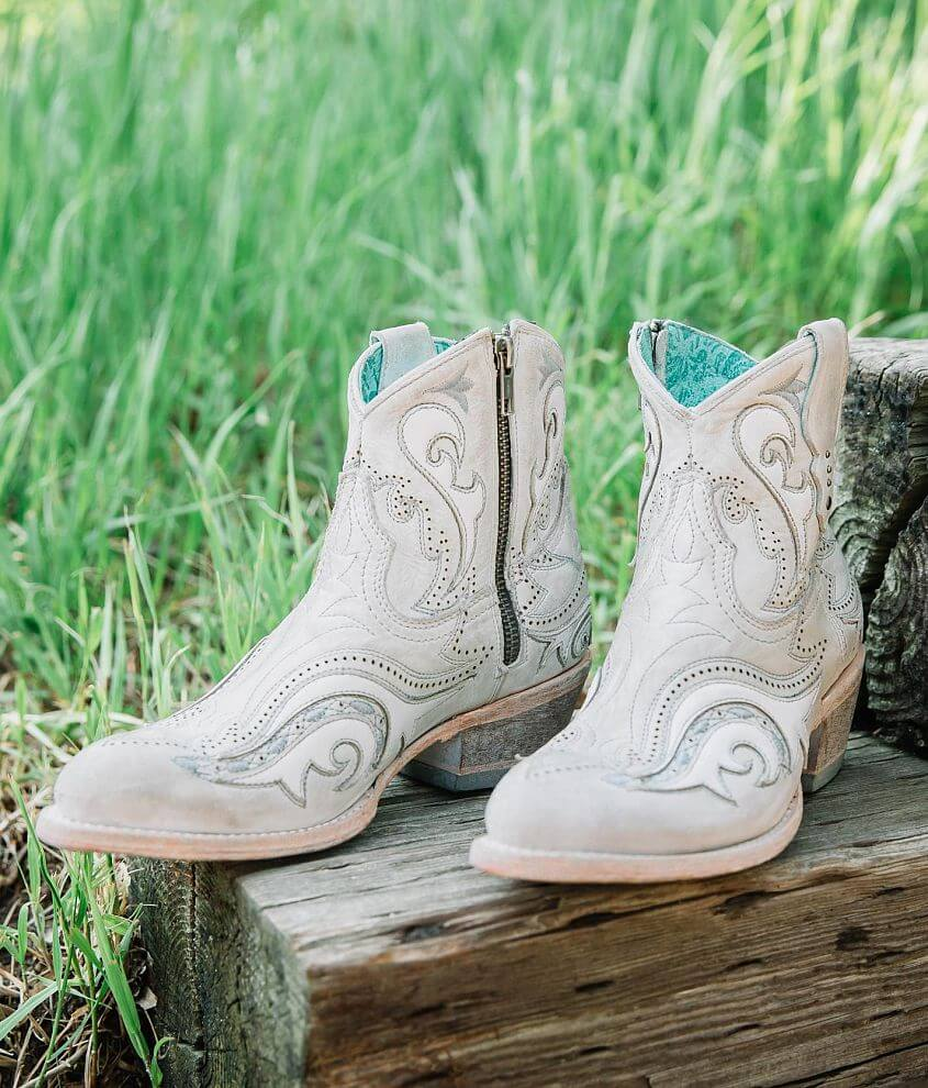 Corral Embroidered Leather Western Ankle Boot front view