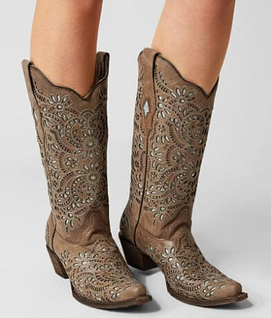 Corral Laser Leather Western Boot