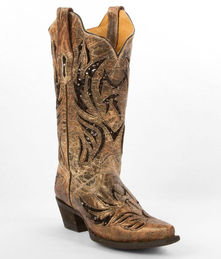 Corral Amarillo Cowboy Boot front view
