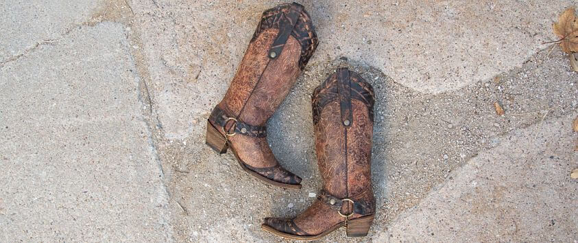 Corral Floral Cowboy Boot front view