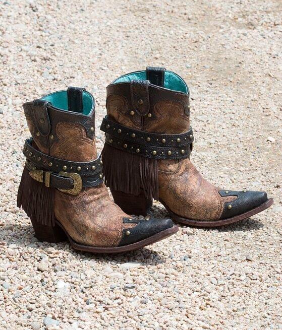 Corral Fringe Cowboy Boot - Women's Shoes in Metallic Cognac | Buckle