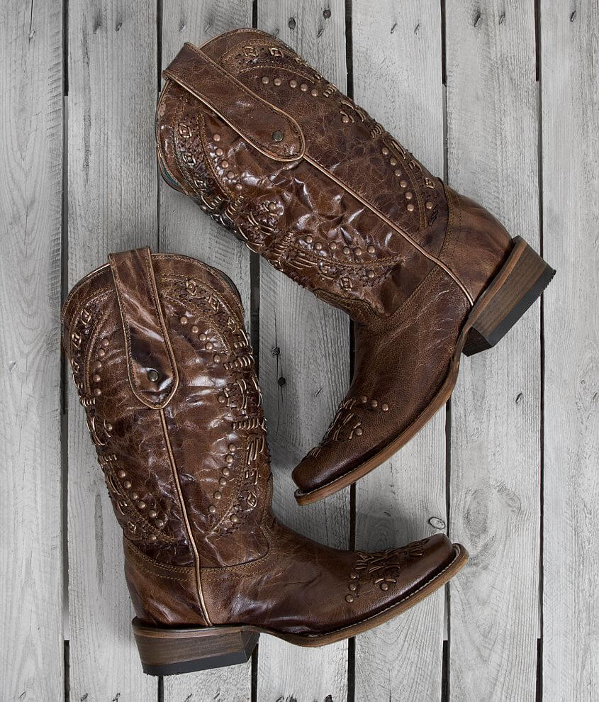 Corral Studded Square Toe Cowboy front view
