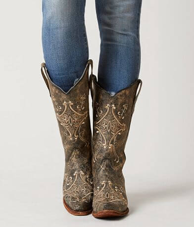 Circle G by Corral Crackle Leather Western Boot