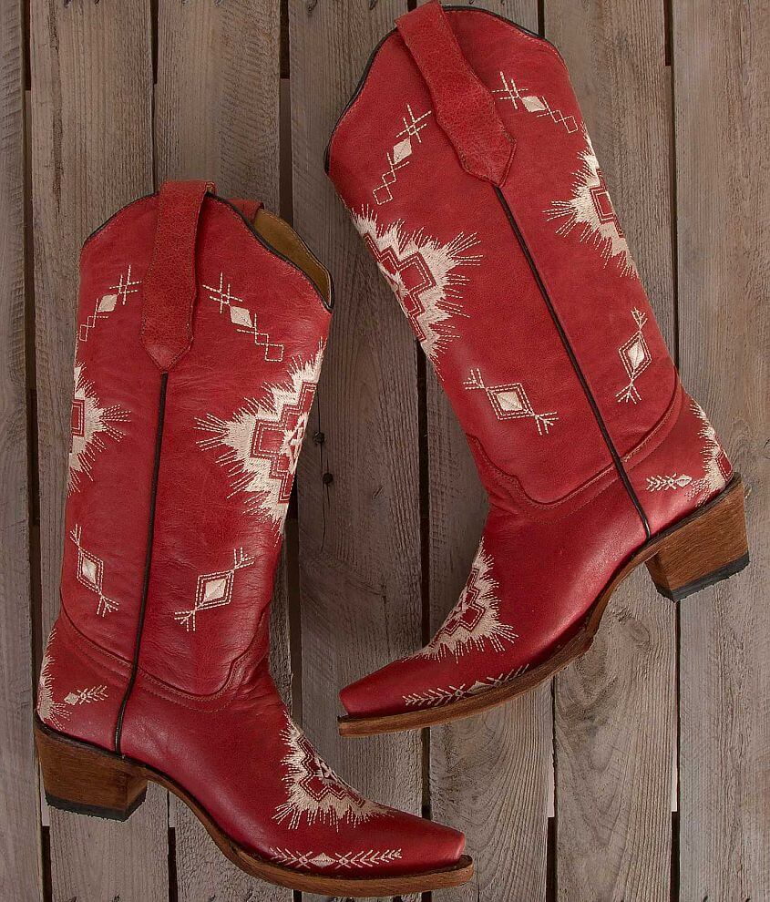 Circle G Embroidered Cowboy Boot front view