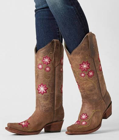 Circle G by Corral Floral Cowboy Boot