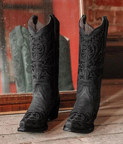 Circle G by Corral Filigree Leather Western Boot