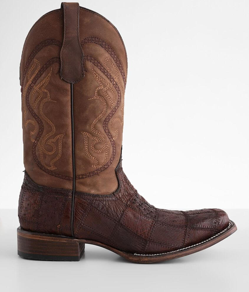 Circle G by Corral Caiman Leather Cowboy Boot front view